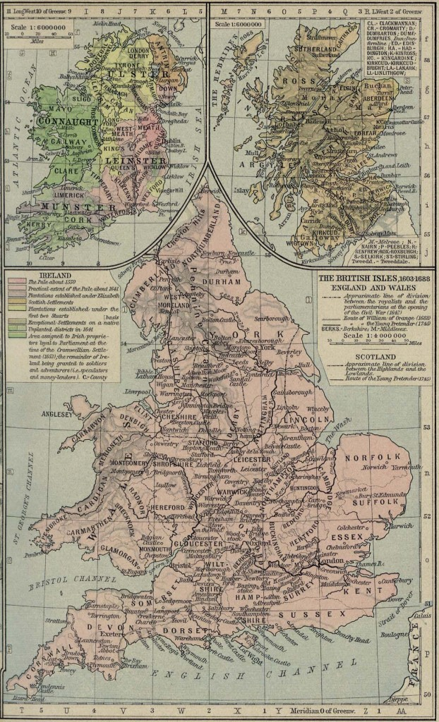 British Isles - 1603 to1688