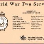 Rex Wilkinson Close (1904) - World War 2