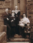 Anthony Close (1846) and family around 1897