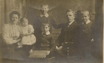 Harriet Close (1871) and family around 1907