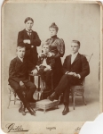 Mary Ellen Hooper (1850) and family around 1895